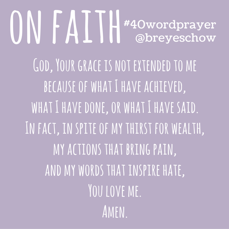 #40WordPrayer on Faith — Bruce Reyes-Chow