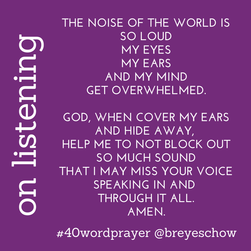 #40WordPrayer on Listening — Bruce Reyes-Chow