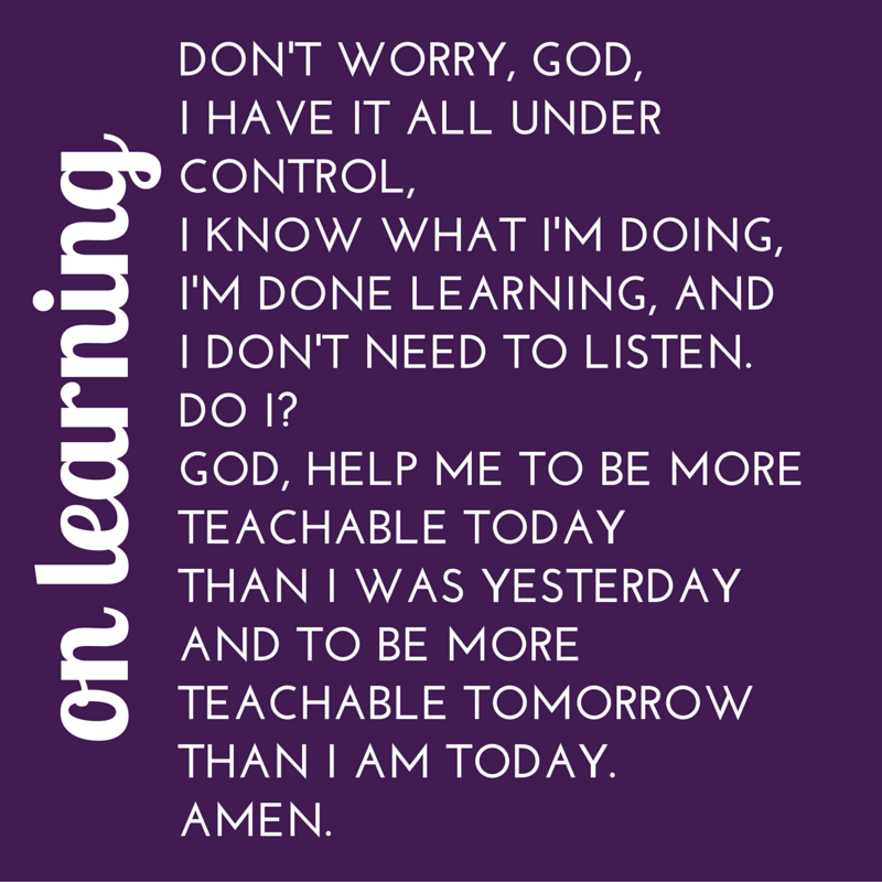 #40WordPrayer on Learning — Bruce Reyes-Chow