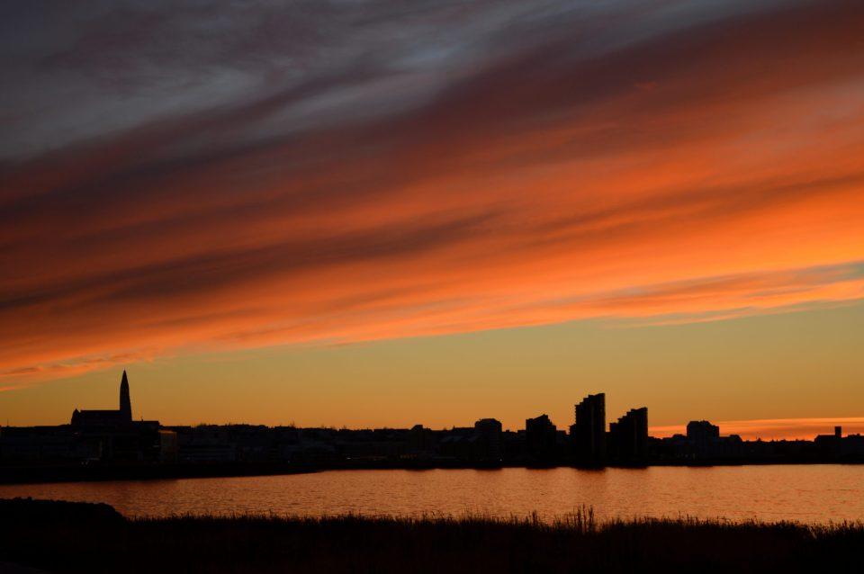 Reykjavik Sunset Iceland
