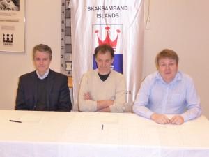 Vice President Palmi Petursson, GM and author Helgi Olafsson and President Gunnar Björnsson