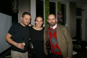 The Quizmasters with the photographer Fiona