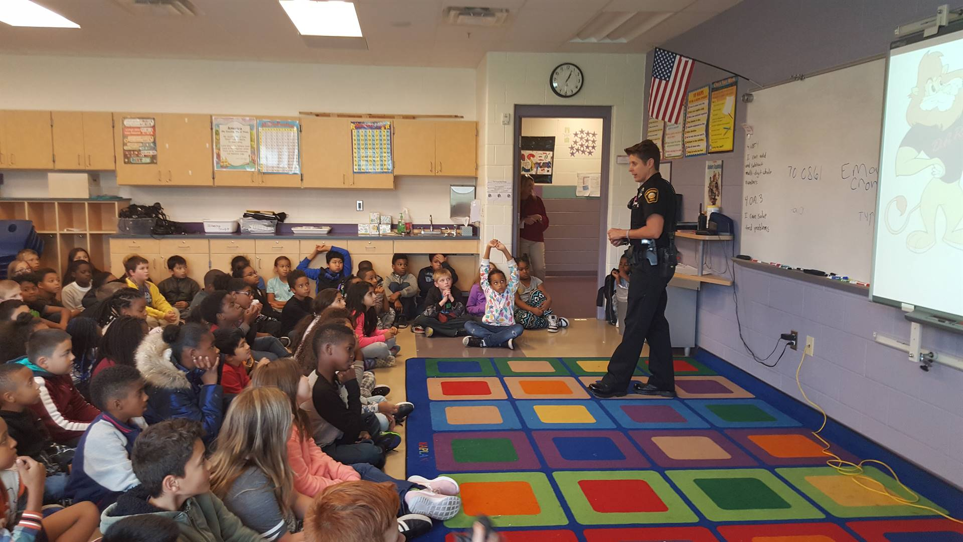 Officer Fulton Speaks To The 4th Grade About Bullying