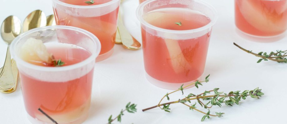 Peaches in Rose´ Jelly