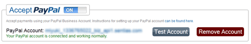 PayPal Configuration Settings