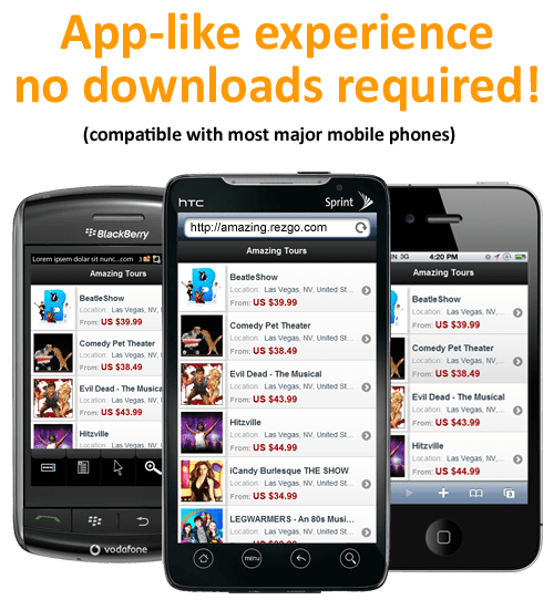 Every Rezgo Account comes with a FREE mobile web booking engine!