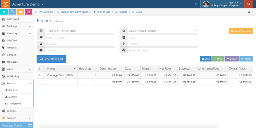 Use existing Rezgo reports to keep track of reseller performance