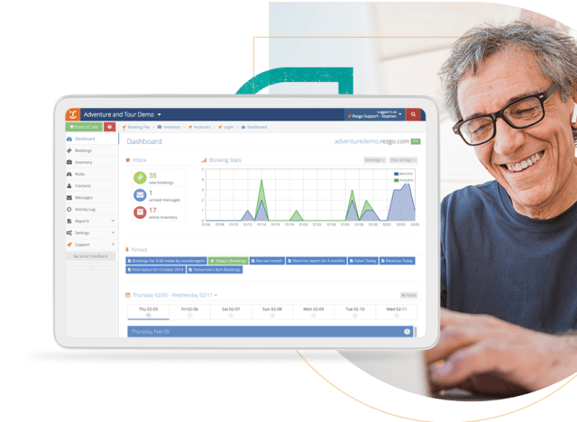 Analytics Booking System Screen