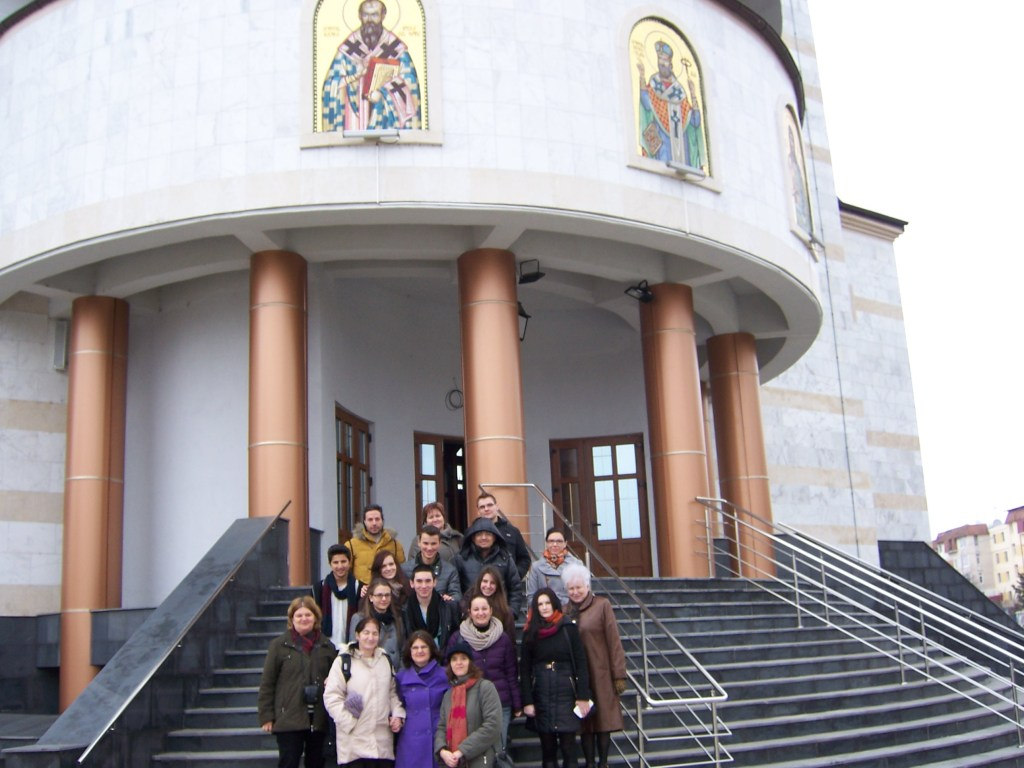 142 Visiting Mioveni church