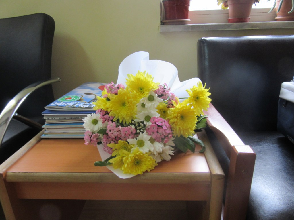50. Flowers from Turkish headmaster for each group