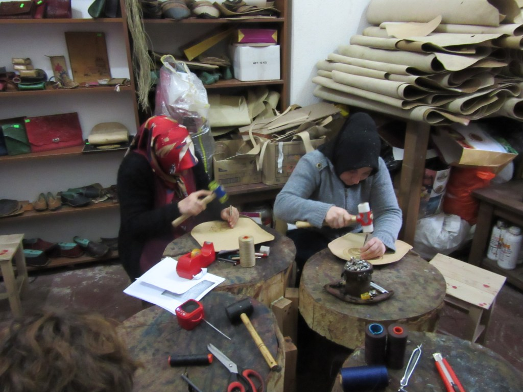93. In the creativity centre – leather workshop