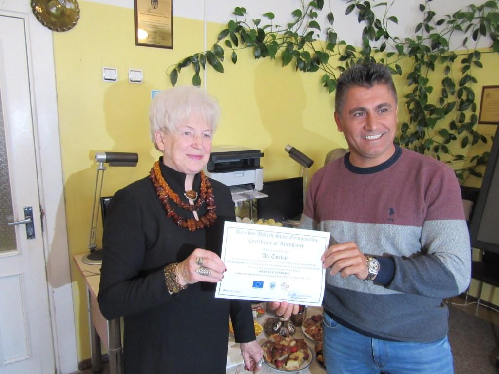 60. Presenting certificates