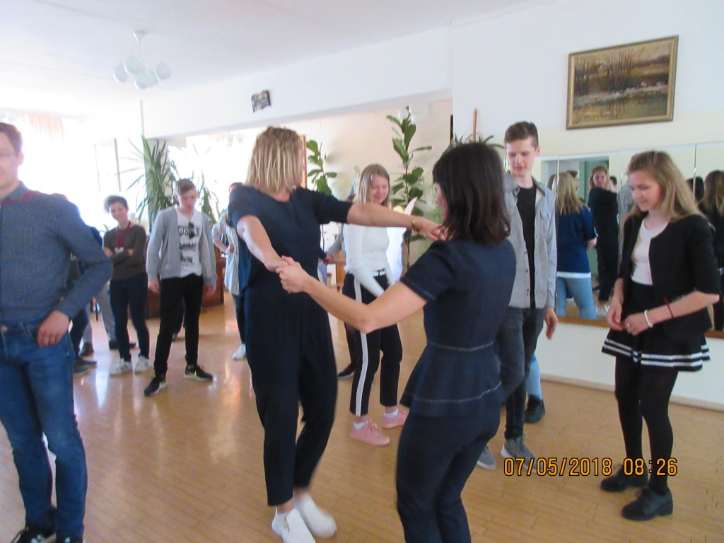2. Learning Latvian folk dances