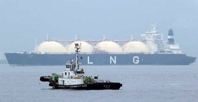 Liberian LNG, or Liquefied Natural Gas, tanker Al Hamra arrives at a port in Yokohama, southwest of Tokyo. Credit: AP
