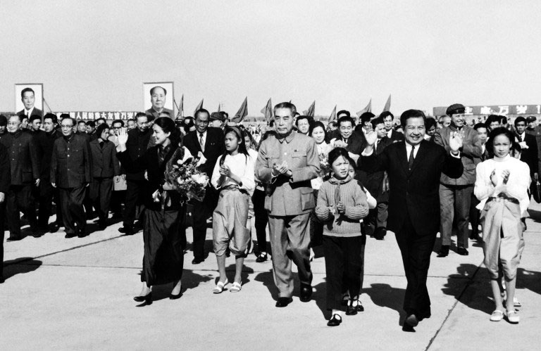 Image result for Sihanouk and Zhou Enlai
