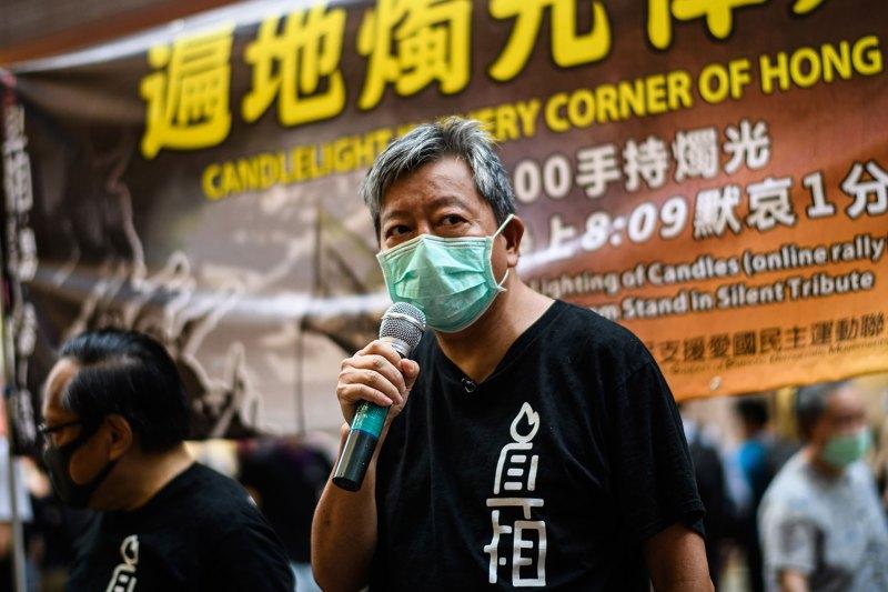 支联会主席李卓人表示教育局此举无疑是政治审查,试图抹去六四事件。(AFP)