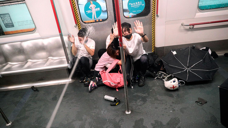 """香港市民未敢忘记!""""831警暴""""两周年祭"""