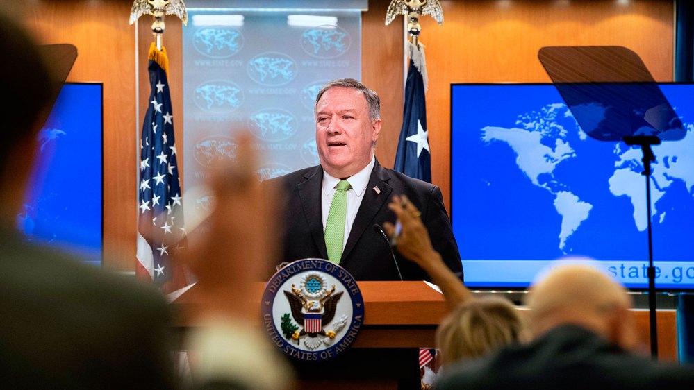 美国国务卿蓬佩奥当地时间本周三(5月27日)发表声明,指香港已经不具备高度自治状态。美国将于本周末之前,宣布制裁香港措施。(美联社图片)