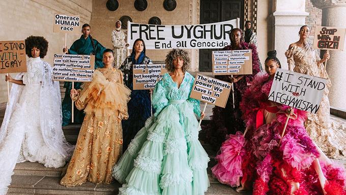 专访关注维吾尔种族灭绝的时装设计师Louise Xin
