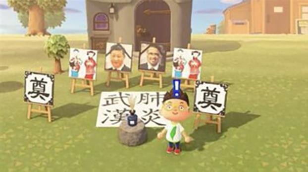 """香港众志秘书长黄之锋也曾推特贴出写有""""反送中""""抗争口号的设计图,还转发了多张相关图片。而在众多的网友设计图中,被频繁转发的是一幅""""祭奠""""中国国家主席习近平及世界卫生组织总干事谭德塞的图片,图片中央还摆放着巨大的""""武汉肺炎""""字样。(推特截图)"""