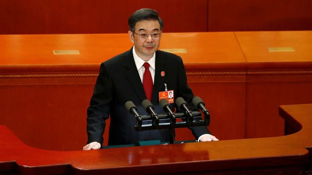 中国最高法院院长周强。(路透社)