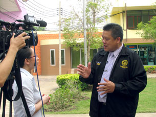 Ông Puton trả lời phỏng vấn CNN. Photo Khanh An, RFA