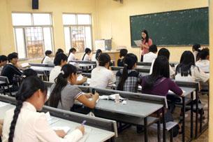 Một lớp học ở Đại Học Văn Hóa, Hà Nội