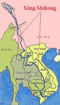 Bản đồ sông Mekong.