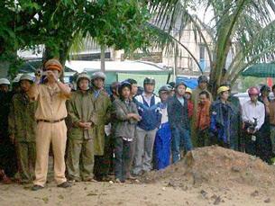Lực lượng của chính quyền Quảng Ngãi trước khi xông vào cưỡng chế đất