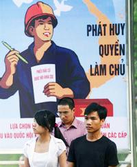Chính phủ kêu gọi phát huy quyền làm chủ. AFP