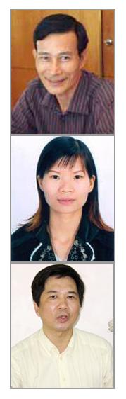 Từ trên: ông Nguyễn Văn Hải-cô Phạm Thanh Nghiên-TS luật Cù Huy Hà Vũ. RFA files