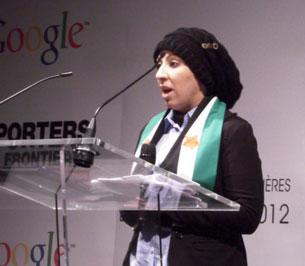 Cô Jasmine người hoạt động cho Syria đang cư ngụ tại Canada đã đại diện cho nhóm LCCSyria. RFA