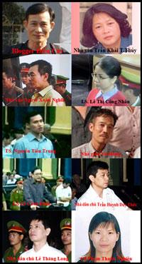 Một lọat các nhà đấu tranh cho dân chủ bị đưa ra xét xử gần đây