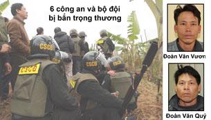 Hai anh Đoàn Văn Vươn và Đoàn Văn Quý. RFA file/Source phapluat.vn