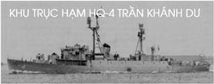 Khu trục hạm HQ4 Trần Khánh Dư tham dự trận hải chiến với Trung Quốc năm 1974.Source lichsuvn.info