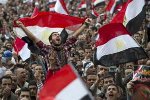 Ai Cập: Mỗi ngày lực lượng biểu tình mỗi lớn mạnh, chỉ trong 2 tuần lễ số người tham gia đã lên trên 1 triệu. AFP