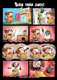 """Một cảnh trong truyện """"Siêu thị thần dược"""". Photo courtesy of bacbaphi.com.vn"""