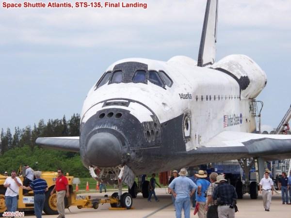 Space Shuttle Atlantis' Final Landing - RF Cafe