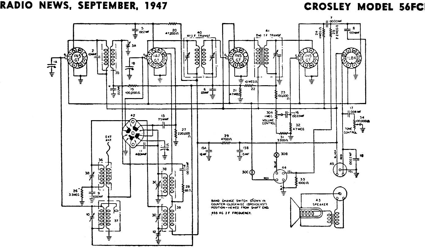Crosley Model 56fc September Radio News