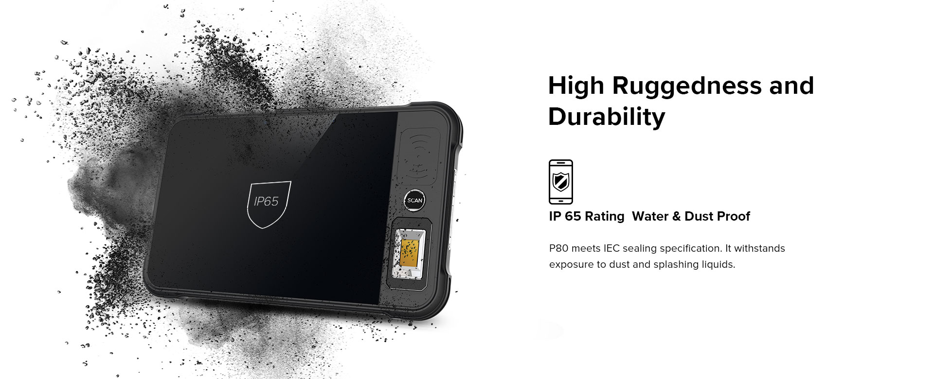 P80 - Android Rugged Tablet by RFID-Global - IP 65 rating