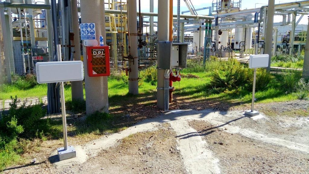 RFID UHF controllo accessi sito Air Liquide