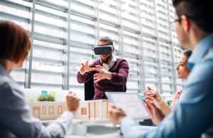 Virtual reality headset smart planning building
