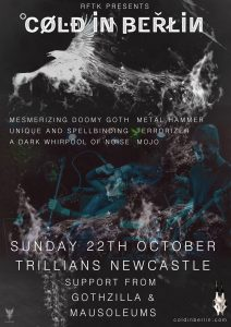 October Tour Newcastle 212x300 - Cold in Berlin make October return