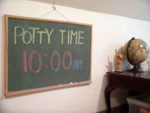 さあ、10時がおトイレの時間ですよー!って、書いてリマインダーしてます。