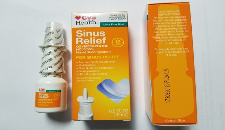 CVS Recall sinus spray