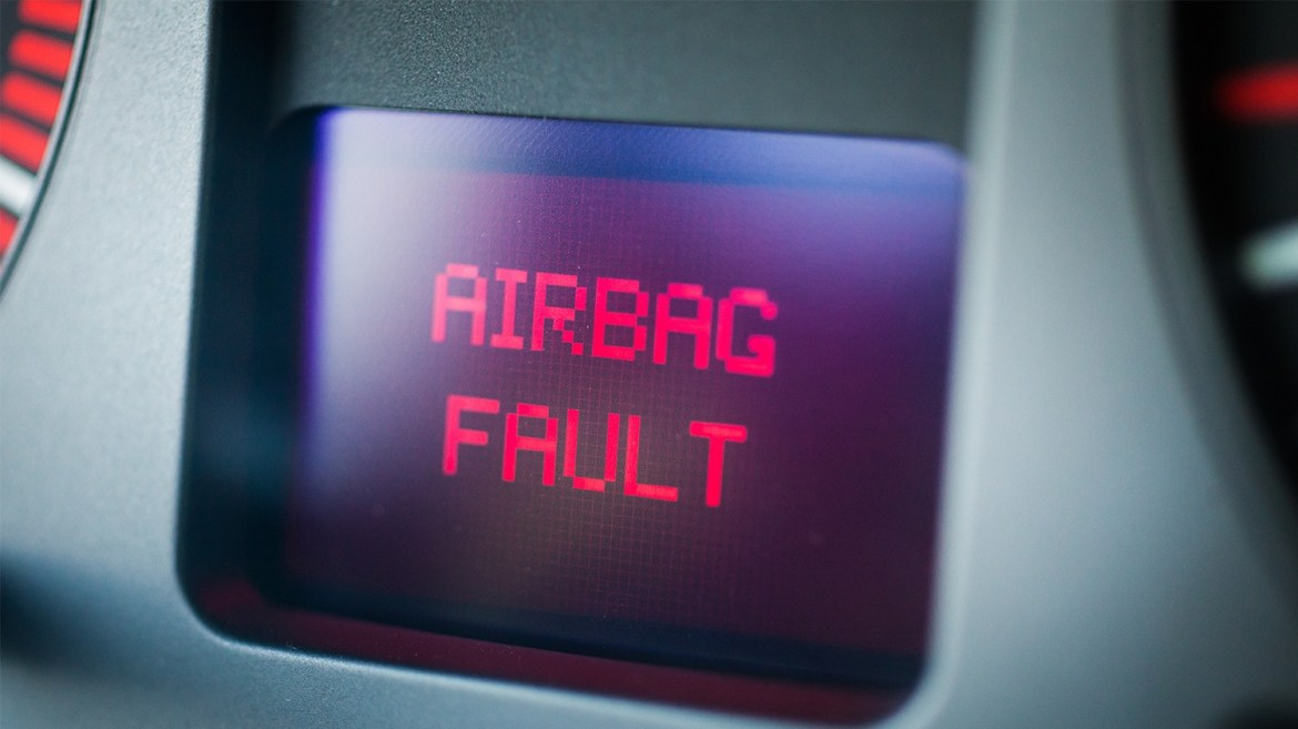 car airbag fault warning