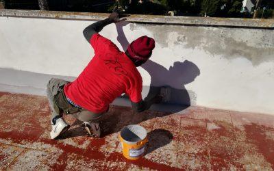Ripristino dell'impermeabilizzazione del tetto di una villa a Lavinio
