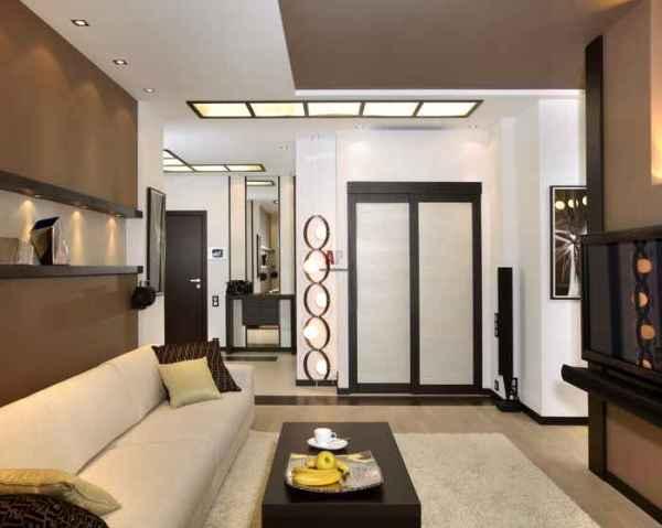 Дизайн длинной гостиной комнаты фото. Экспо-дизайн