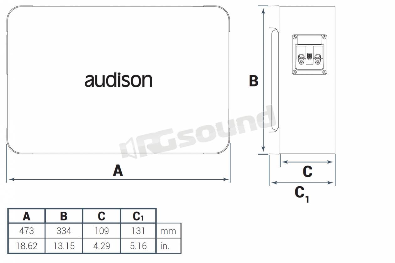 Audison Apbx 8 R Sub Reflex 250w Rms Monobobina 4 Ohm