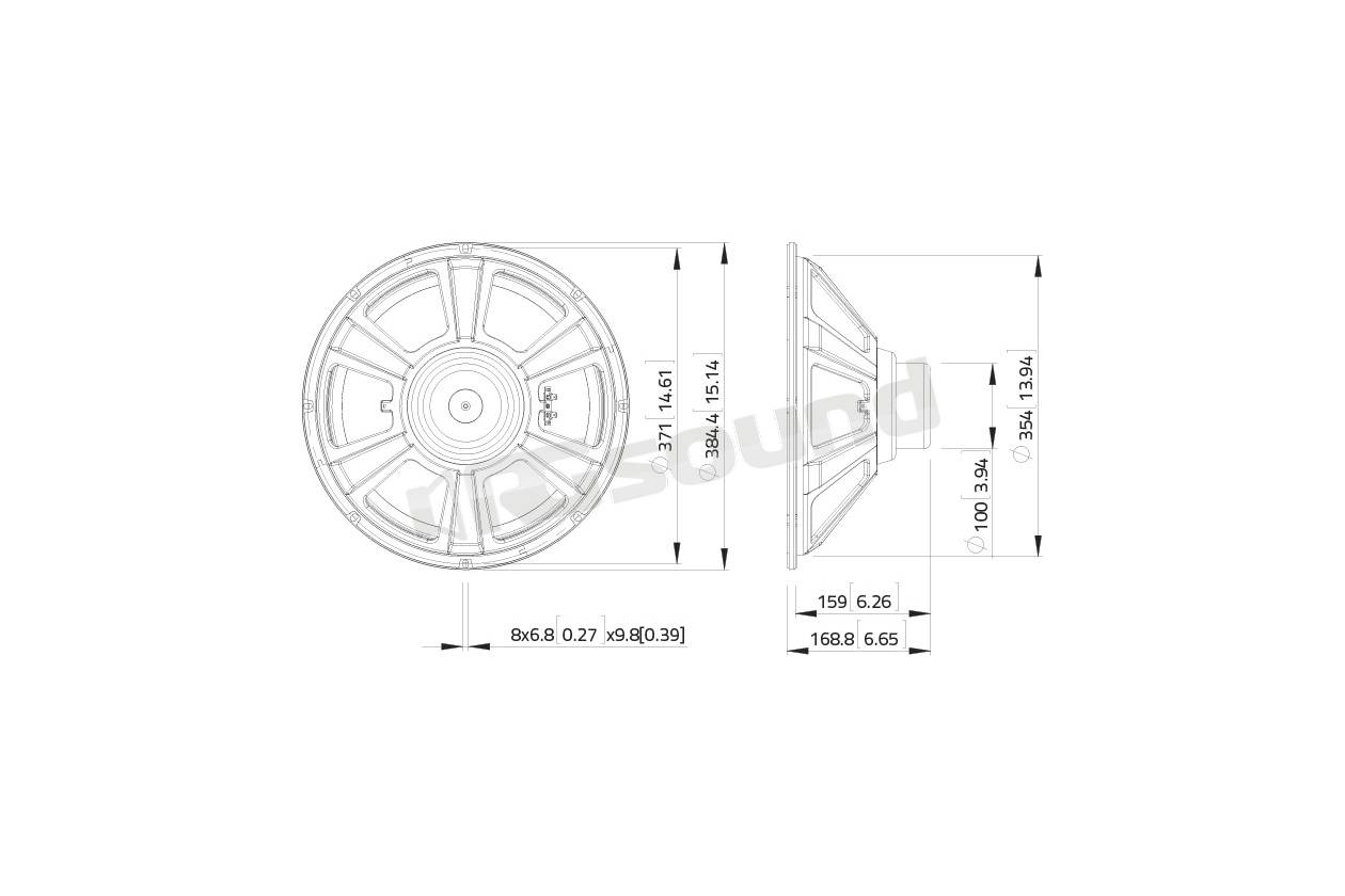 Lavoce Ssn153 00 Subwoofer 380mm 15 Pollici